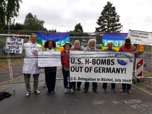 US activists join 2019 protest against US nuclear weapons deployed at Germany's Buechel Air Base